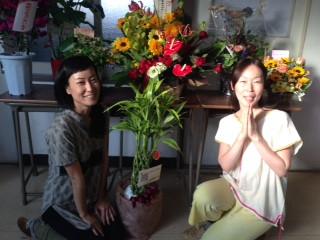 たくさんのお花をいただき感動しました!