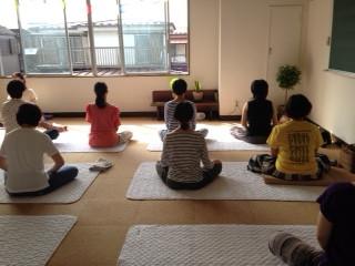 瞑想の静かな時間