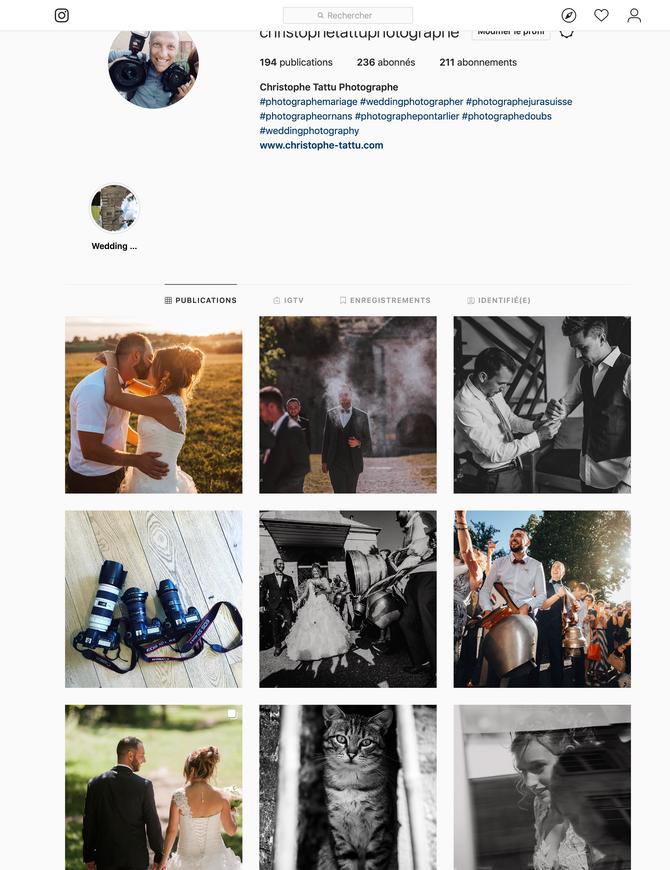 Instagram & Mariages
