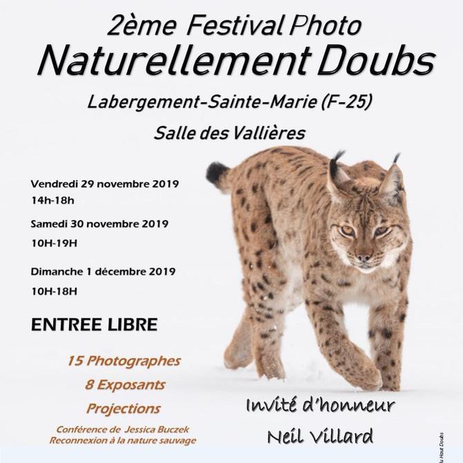 Présent au 2ème Festival Images Naturellement Doubs à Labergement (25)