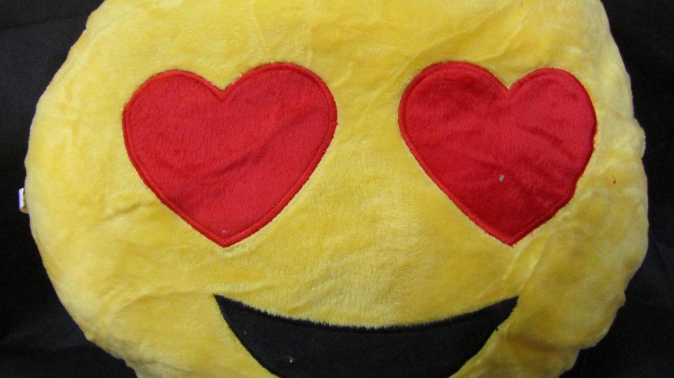 כרית אימוג'י - עיניים מאוהבות