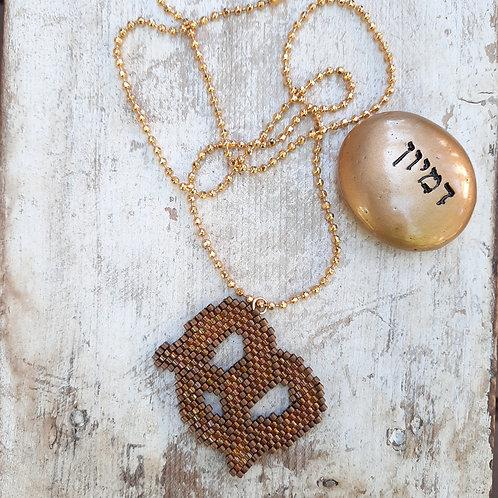 שרשרת בייגלה -תכשיטים אמנותיים בעבודת יד