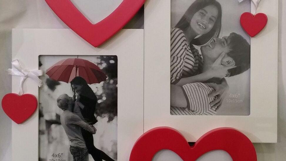 מסגרת אהבה משולבת 2 תמונות
