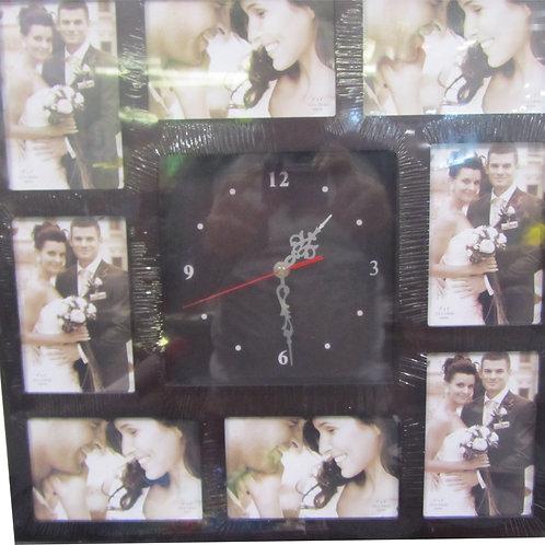 שעון עץ קטן - ל 8 תמונות-חום