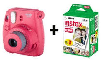 מצלמת פוג'י אינסטקט פוקסיה כולל 20 דפי תמונות - FUJI instax