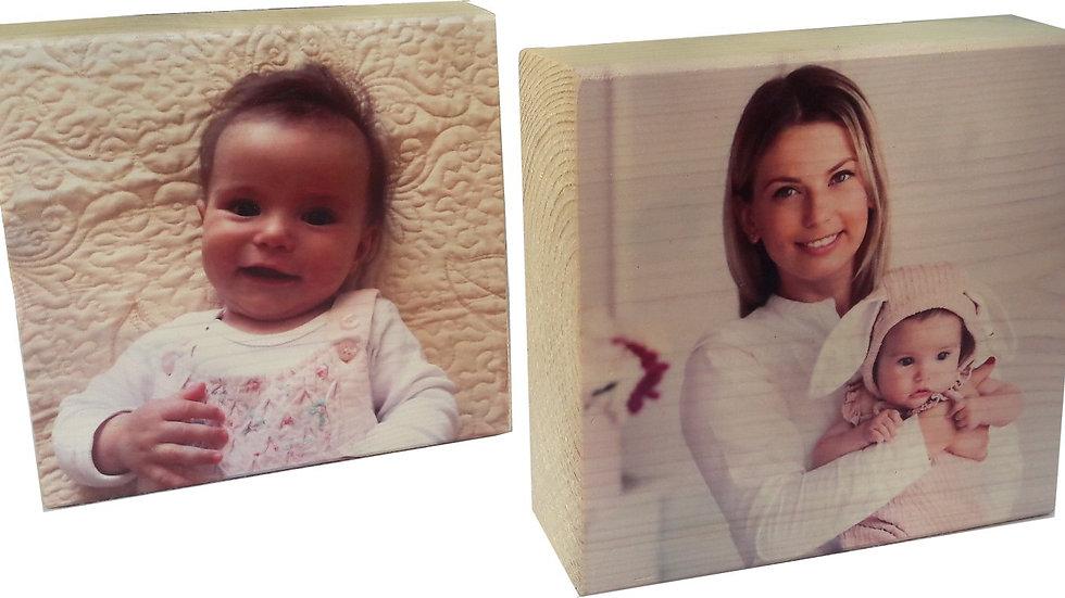 זוג פוטו בלוק, בלוק עץ עם תמונה, תמונה על בלוק עץ www.photowood.co.il
