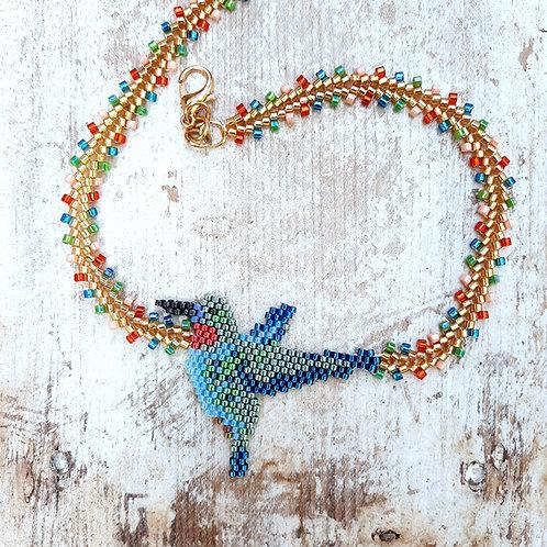 שרשרת ציפור בשילובי צבעים מדהימים - מתנה מושלמת