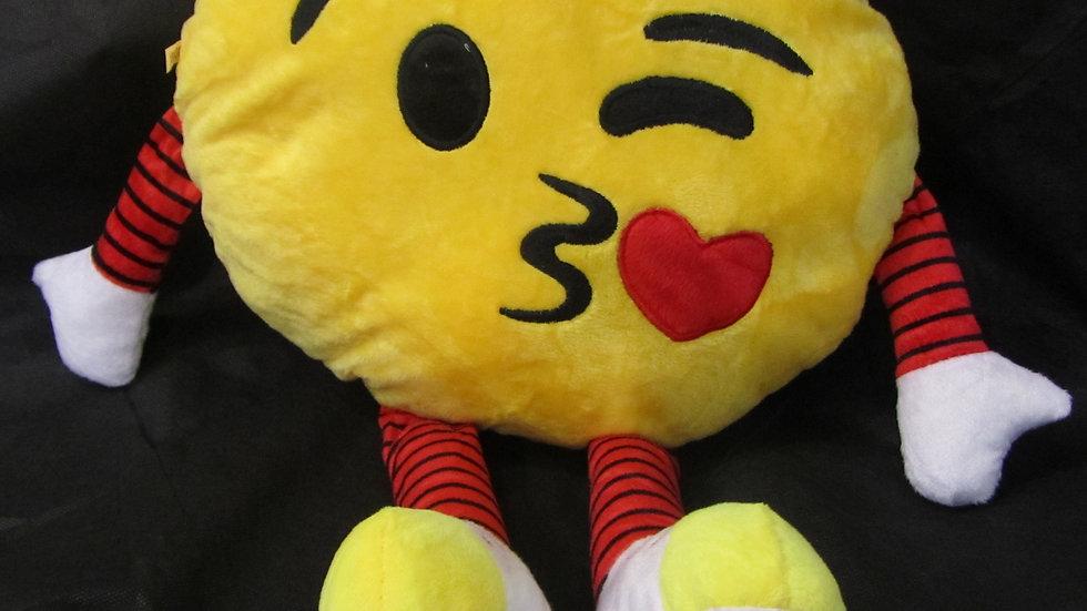 כרית אימוג'י עם ידיים ורגליים- מנשק אהבה