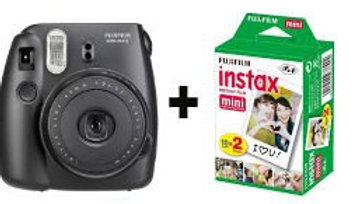 מצלמת פוג'י אינסטקט שחורה כולל 20 דפי תמונות - FUJI instax