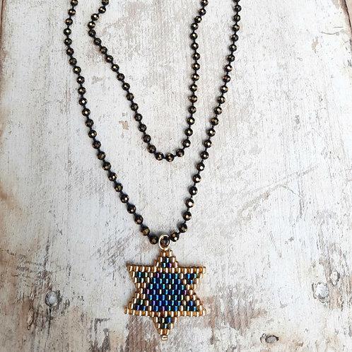 שרשרת מגן דוד בעבודת יד - יצירה ישראלית