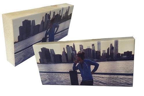 פוטו בלוק לתמונה פנורמית, בלוק עץ עם תמונה, מתנה לחבר, מתנה לחברה