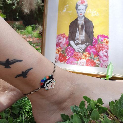 צמיד לרגל פרידה קאלו - עבודת יד ישראלית - מתנה מושלמת