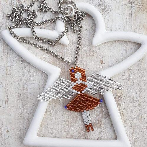 שרשרת המלאך השומר - שרשרת נוכחות בעבודת יד