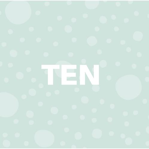 TEN CLASS PASS (lasts 3 months)