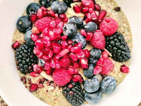 Warm 3-seed Chia Breakfast 'Pudding'