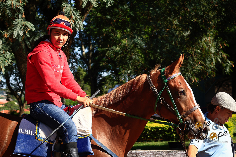 Dailey D.Milan deixou o distante Estado do Tocantins para iniciar-se no turfe, através da escola preparatória do Jockey Club de São Paulo.