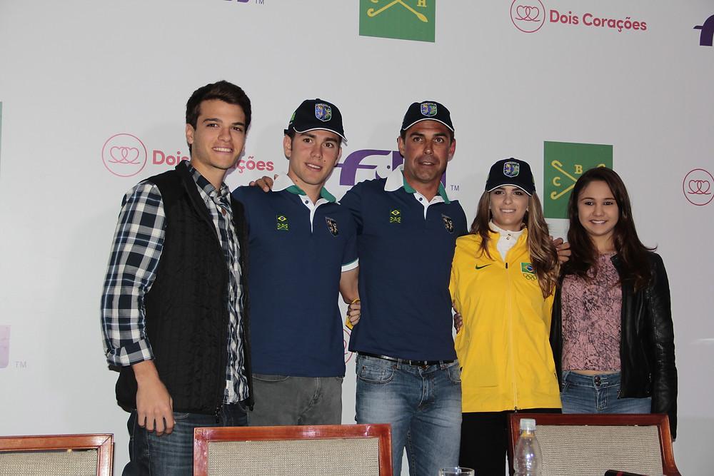 Conheça o time brasileiro de hipismo, selecionado para os Jogos Olímpicos Rio 2016. O anúncio aconteceu hoje (18/07), em coletiva de imprensa na Sociedade Hípica Paulista.