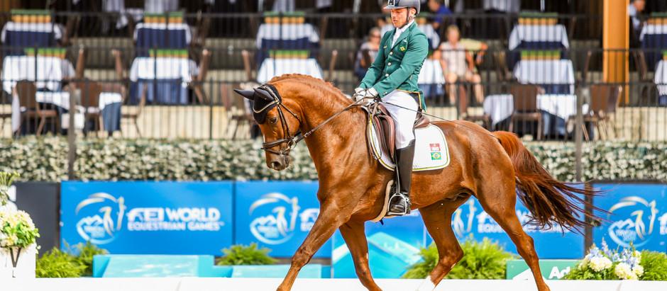 Rodolpho Riskalla conquista prata inédita no Adestramento Paraequestre em Jogos Equestres Mundiais