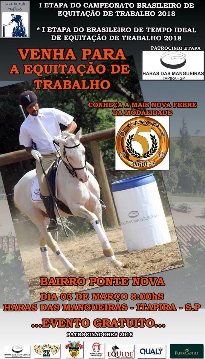 I Etapa do Campeonato Brasileiro de Equitação de Trabalho 2018