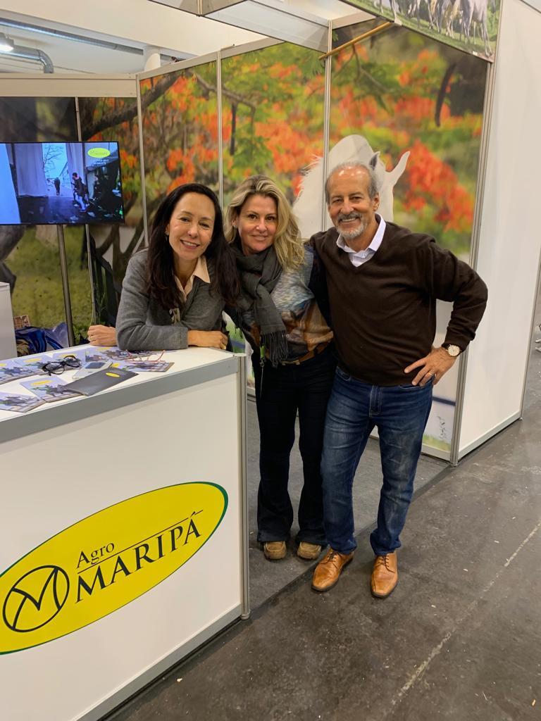 Sophia e Marcelo Baptista, os anfitriões da Agromaripá com Patrícia Opik