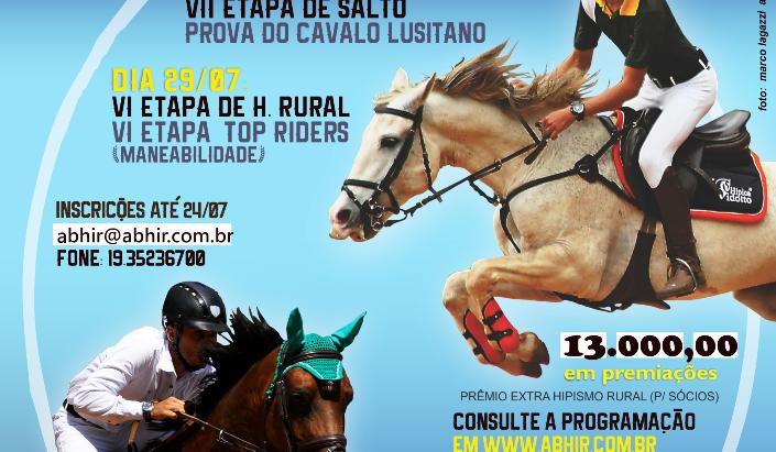 Prova de Salto e Hipismo Rural serão atração neste final de semana em Tatuí