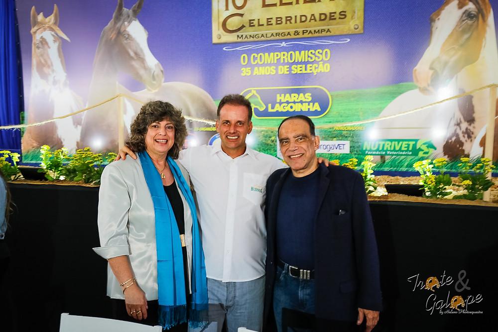 Marisa Iorio (Haras Lagoinha), Alexandre Todeschini (ABCCPampa) e Paulo Eduardo (PEC)