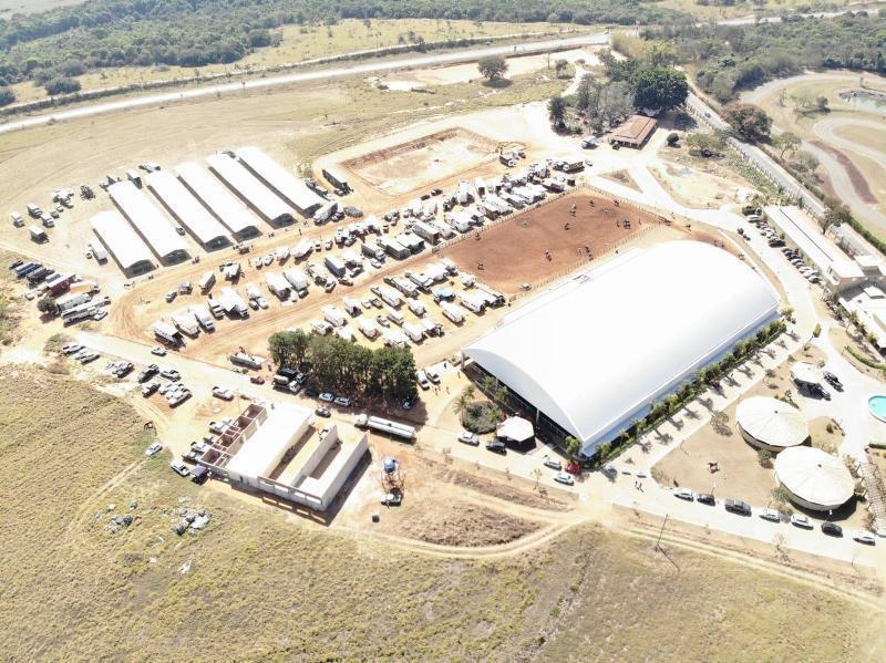 Foto aérea do local da Nacional começa neste sábado, dia 27/11 (Divulgação/Haras NSG)