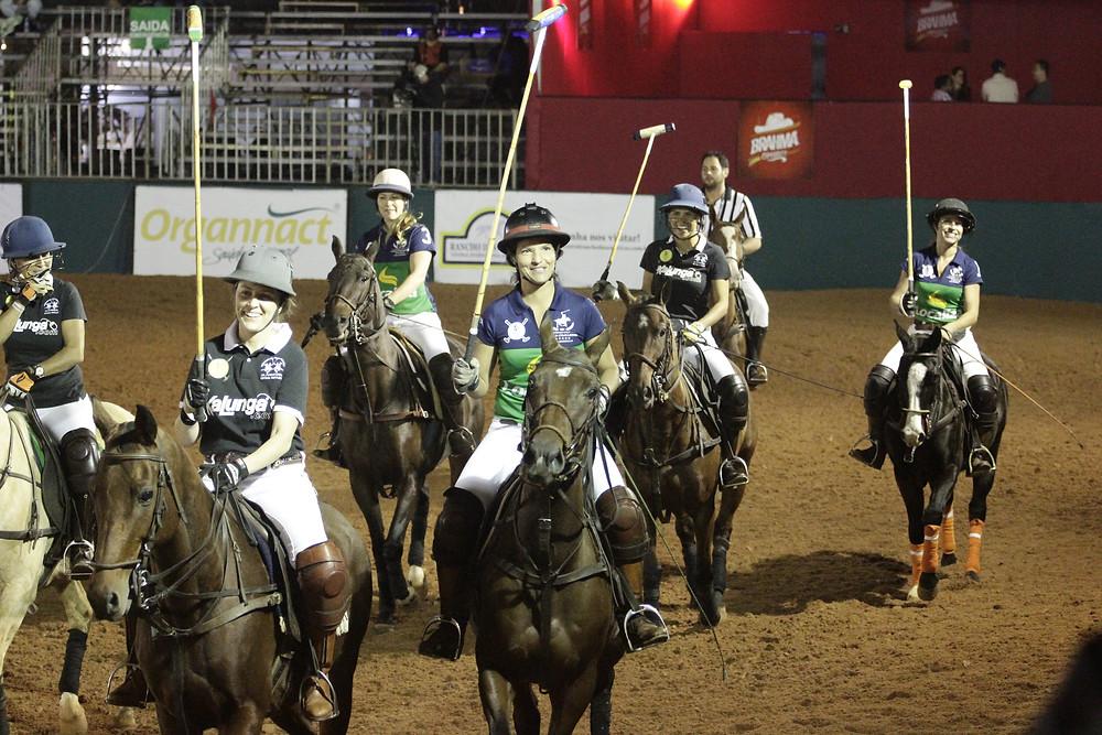Polo feminino na Horse Week Jaguariuna. Lucia Junqueira, Silvia Costa
