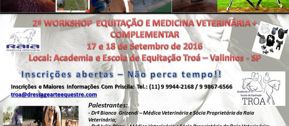 Workshop de Equitação e Medicina Veterinária acontece em Valinhos, SP.