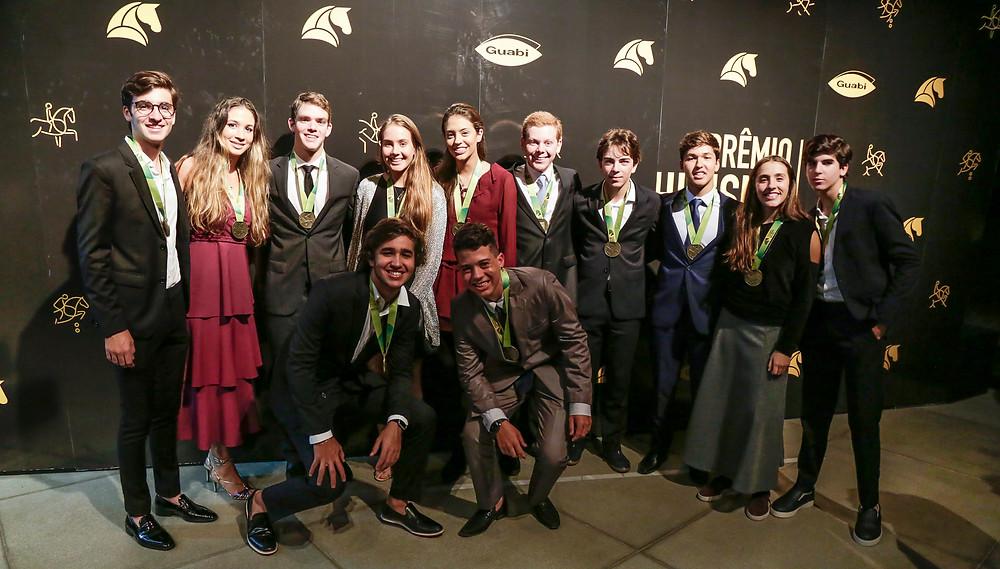 Medalhistas do Sul-americano da Juventude, incluindo campeões do ranking (Marcelo Pereira)