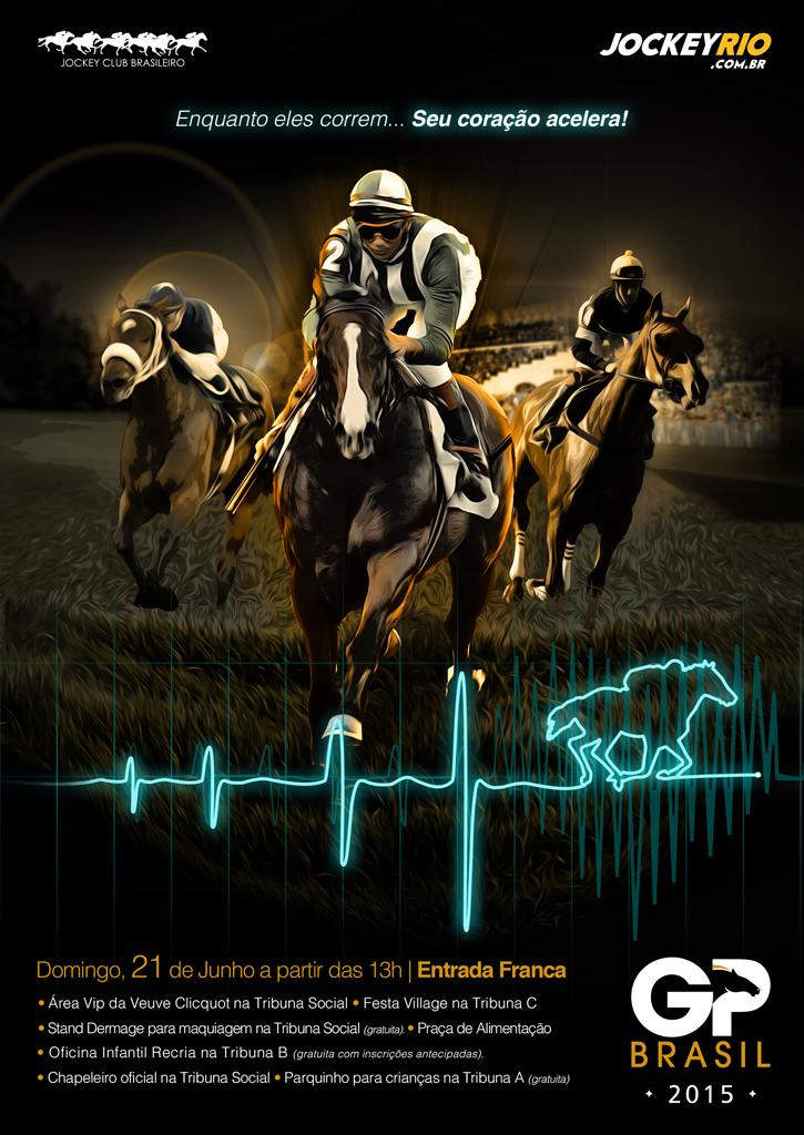 O Festival GP Brasil 2015 foi a grande festa do turfe carioca entre os dias 19 e 23 de junho, no Hipódromo da Gávea. Domingo, 21, foi seu dia principal, pois, além de ser a prova mais importante do calendário nacional de corridas de cavalos, fora das pistas, o evento juntou charme e elegância às diversas atrações.
