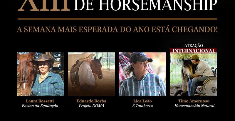 Vem aí o 13º Encontro Internacional de Horsemanship