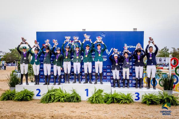 Ouro e prata para o Brasil na categoria Mirim (Luis Ruas)