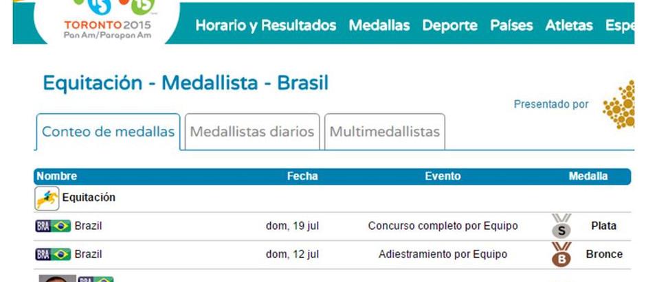 Medalhas do hipismo Brasil no Pan 2015