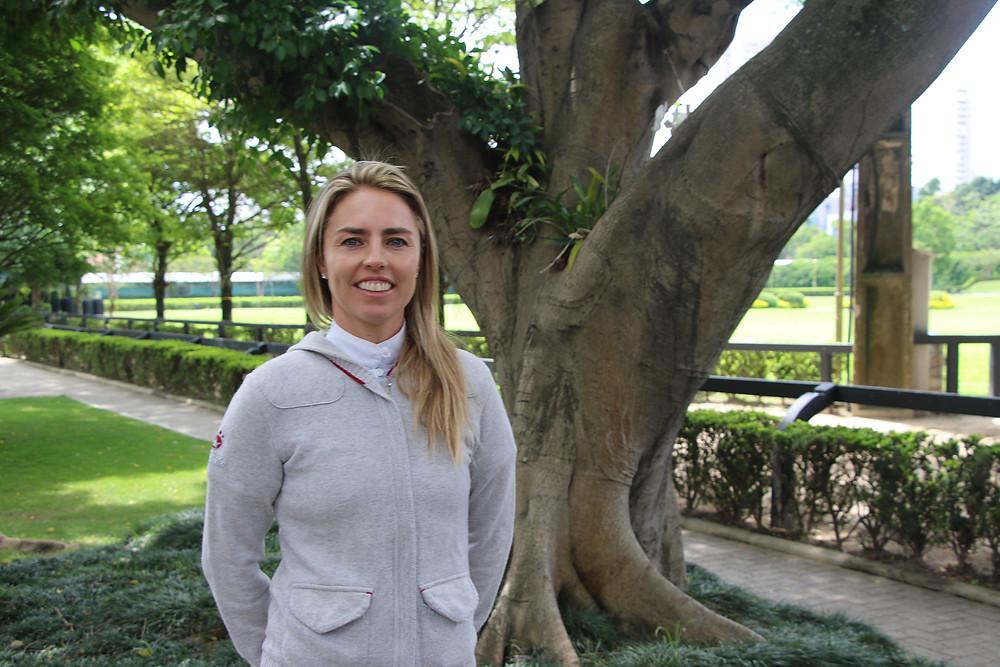 Karina Johannpeter veio da Europa e disputa o Brasileiro Senior Top (C.May)