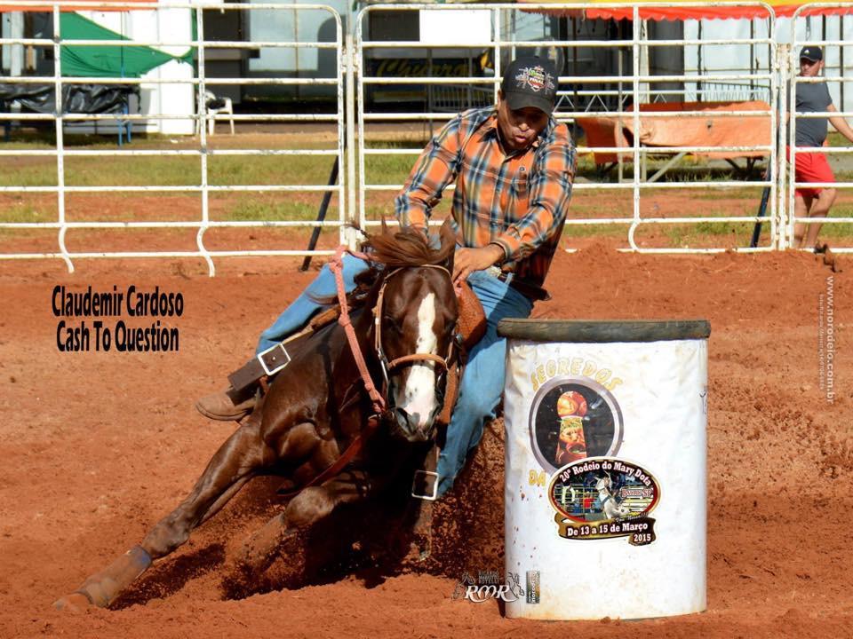 Claudemir Cardoso (PRO1 e CTR Godoy) conquistar o 3º lugar com seu animal Cash To Question.