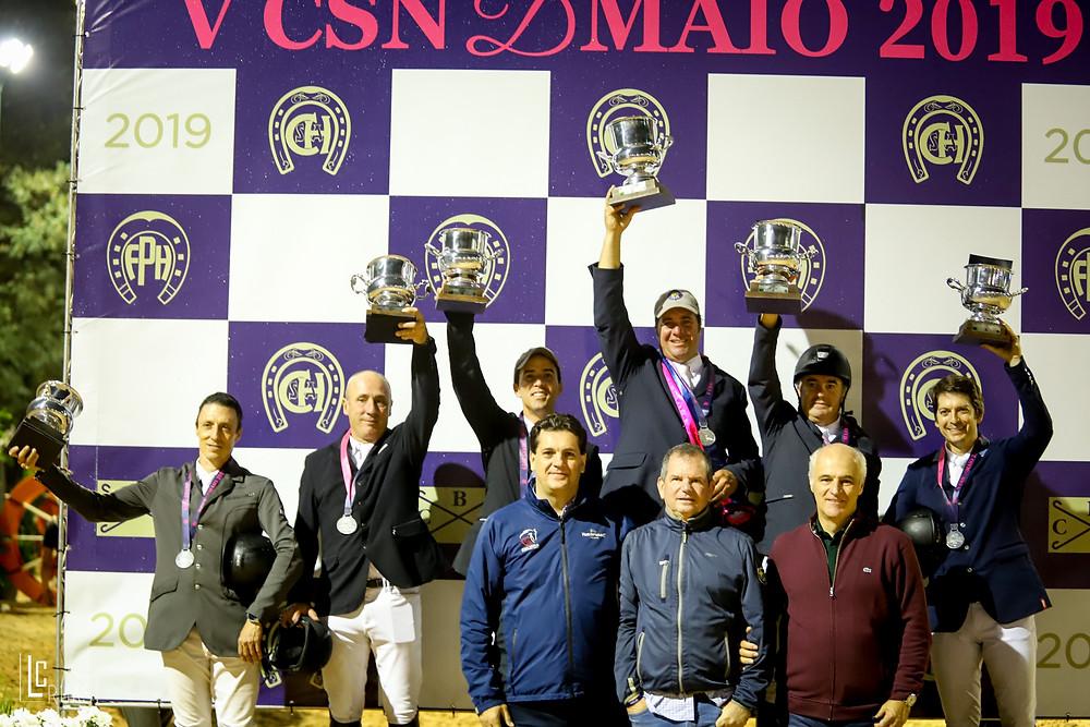 Dirigentes da CBH e CHSA com os vencedores  (Luis Ruas)