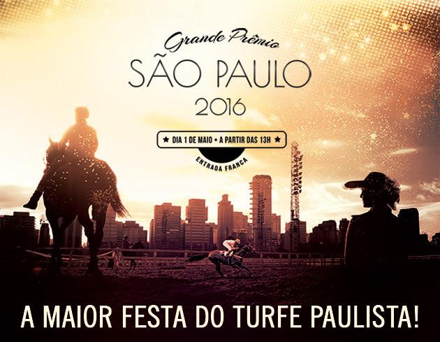 """Neste domingo, 1º de maio, você poderá acompanhar e curtir de perto os melhores cavalos de corrida em disputas emocionantes. A festa acontece a partir das 13h, à frente de uma das paisagens mais privilegiadas da capital paulista. Serão 10 páreos, mas - de acordo com a tradição - a aguardada """"cereja do bolo"""" é o 7º páreo, que acontece às 17h10. Trata-se da prova internacional """"Grande Prêmio São Paulo""""que, inclusive, dá nome ao evento e promete muita emoção com 16 cavalos disputando cada palmo dos 2.400 metros da pista de grama. Para se ter ideia da velocidade que cada puro sangue inglês pode atingir, o recorde desta prova aconteceu em 21/05/2006, por """"Dono da Raia"""", fazendo 2:24.490 (o recorde da pista foi batido por Quick Road, em 05/07/2008, com 2:24.060)."""