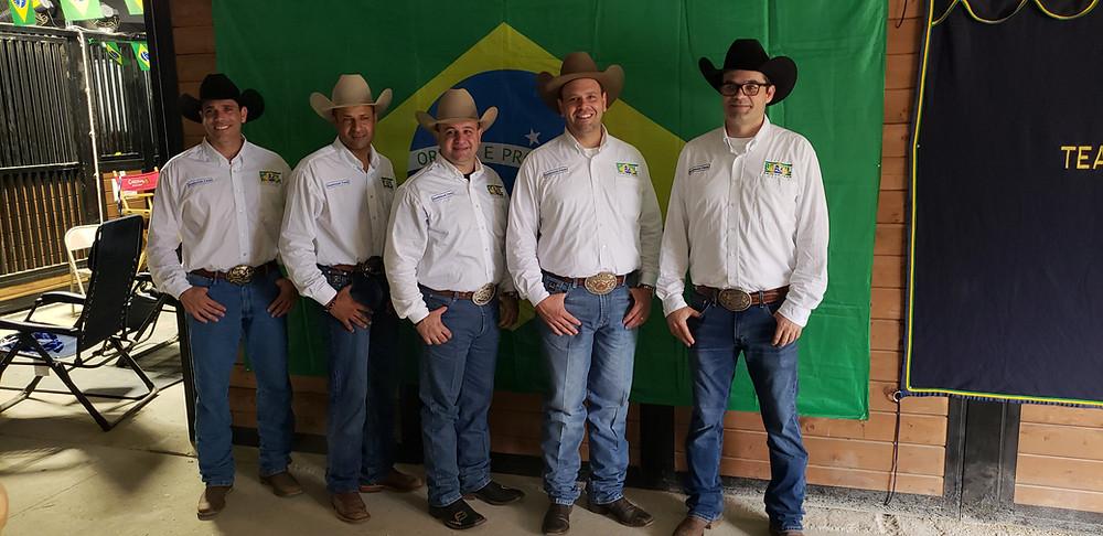 A equipe brasileira de Rédeas tem boas chances de medalha (Divulgação)