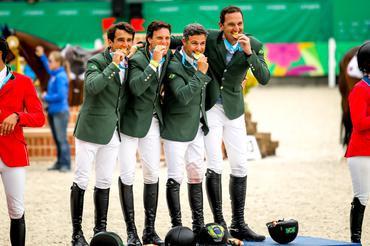 Marlon, Pedro e Eduardo, ouro por equipes em Lima 2019, vem para o Indoor (Luis Ruas)