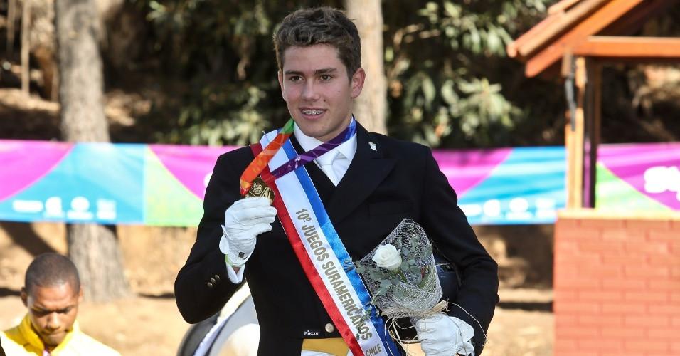 João Vitor Marcari Oliva está nas competições de Hipismo dos Jogos Pan-americanos de Toronto.