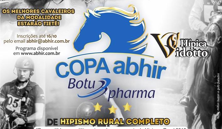 Hípica Vidotto sedia Copa ABHIR Botupharma de Hipismo Rural Completo