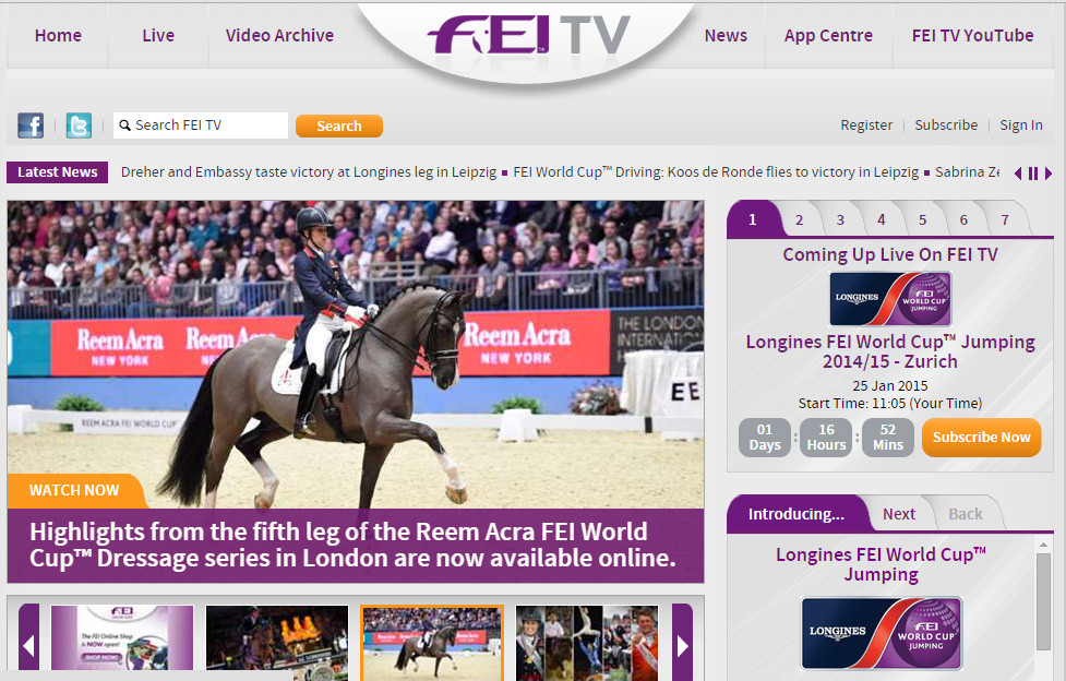 FEI TV Federação Equestre Internacional