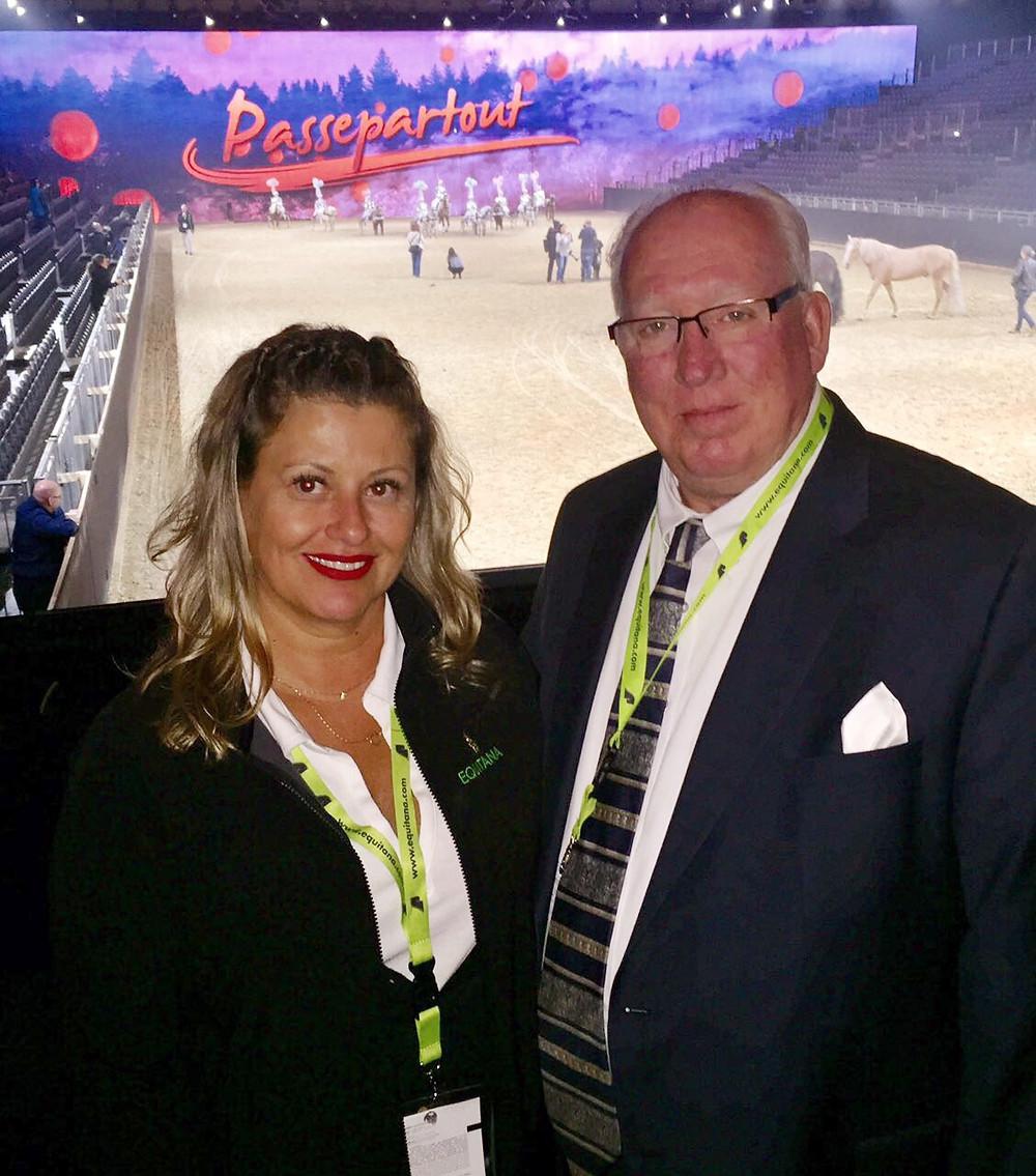 Patrícia reuniu-se com Bob Keegan, diretor geral da Equitana americana para fechar contrato de exclusividade na representação da feira no Brasil.