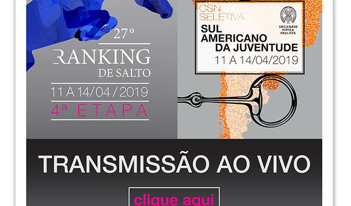 Hipismo ao vivo até domingo (14/4)