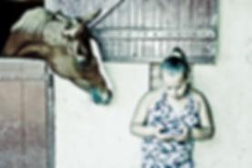 Cavalo curioso, cavalo e tecnologia, Celular para cavalos
