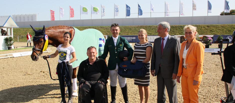 Rodolpho Riskalla garante 2ª vitória no CPEDI3* em Mannheim, superando medalhistas paralímpicos