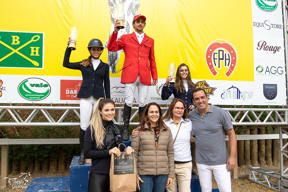 1º Pedro Cury Maia / Baccarat JMen II Realitz - FPH - 48 pontos 2º Renata Afonso Scafuro / I Pony - FPH - 48 pontos 3º Mayara de Andrade Urban / Stain Corradino - FPH - 47 pontos