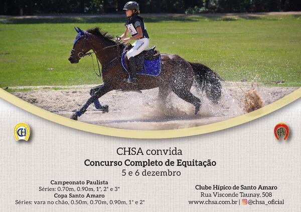 Cartaz promocional da Paulista e Copa Santo Amaro Concurso Completo de Equitação (Divulgação)