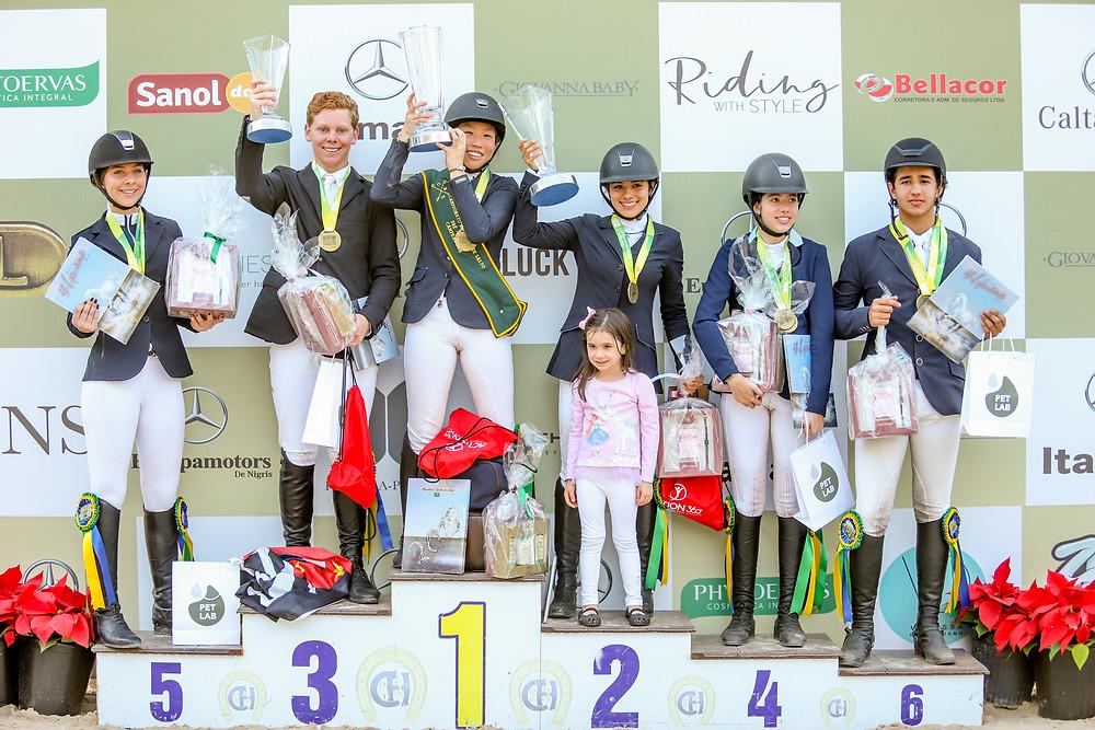 Vencedores da categoria pré-junior (Luis Ruas)